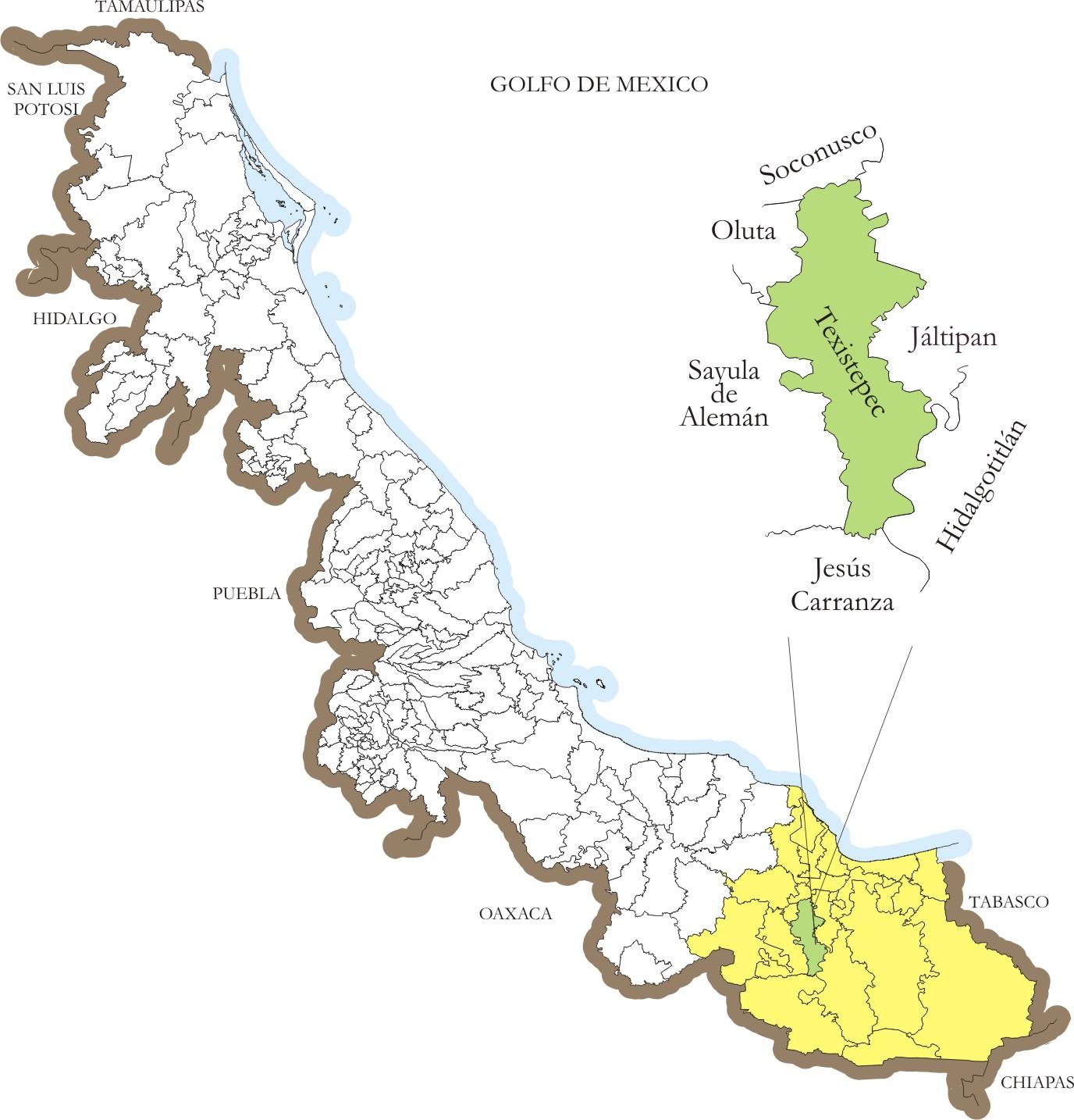 Mapa Texistepec